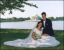 Wedding at the Jefferson Memorial